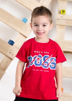 Chlapčenské tričko s krátky rukávom BOSS červené MM 343 boss