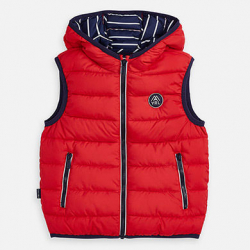 MAYORAL chlapčenská vesta s kapucňou 3459-020 red