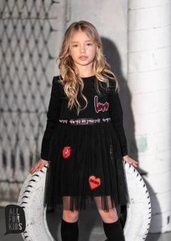 Bavlněné šaty s tylovou sukní MM 506 love