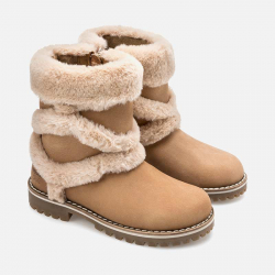 MAYORAL dievčenské čižmy s kožušinou 44039-88 castor