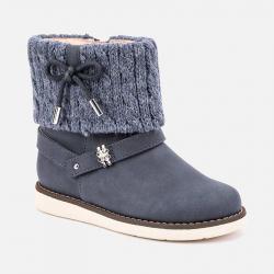 Béžové dievčenské čižmy MAYORAL 46033-075 jeans
