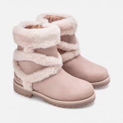 MAYORAL dievčenské čižmy s kožušinou 44039-087 dahlia