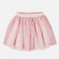 MAYORAL ružová tylová sukňa 7902-062 Nude