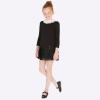 Čierne šaty MAYORAL s bielym golierikom 7923-045