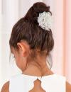 Dievčenská čipkovaná spona ABEL&LULA 5414-027 silv