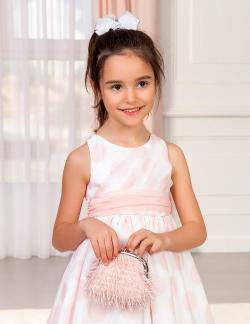 Luxusná kabelka s perím ABEL&LULA 5436-070 rose