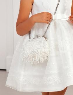 Luxusná kabelka s perím ABEL&LULA 5436-071 wh