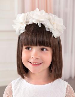 ABEL&LULA čelenka s veľkými kvetmi 5425-049 white