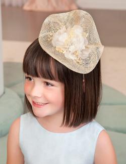 ABEL&LULA čelenka - mini klobúk 5426-003 natural