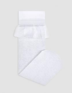 Exkluzívne silonkové ponožky ABEL&LULA 5407-095 wh