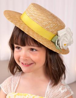 Exkluzívny slamený klobúk ABEL&LULA 5443-079 yell