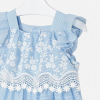MAYORAL dievčenské šaty s výšivkou 3952-047 blue