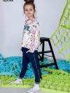 Dievčenské  nohavice s flitrovým pásom LOVE