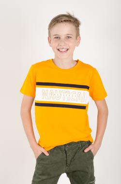 Oranžové NAUTICAL chlapčenské tričko