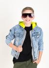 Chlapčenský rifľový kabát s kapucňou STREET