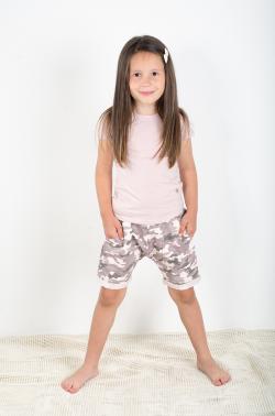 Dievčenské krátke bavlnené nohavice