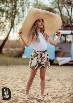 Dievčenské krátke nohavice PALM béž