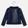 MAYORAL dievčenský kožený kabát 3464-021 navy
