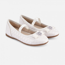 MAYORAL biele dievčenské balerínky 43155-012