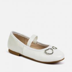 MAYORAL biele dievčenské balerínky 47145-074