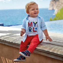 MAYORAL chlapčenské nohavice 522-046 Hibiscus