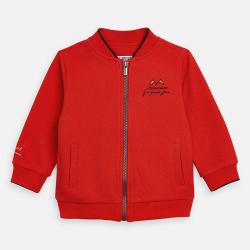 MAYORAL červená mikinabez kapucne 3447-038 hib