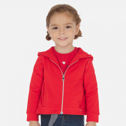 MAYORAL červená dievčenská mikina 3468-035 Red