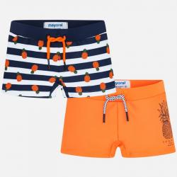 MAYORAL chlapčenské plavky 2ks 3627-030 Orange