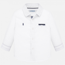 MAYORAL biela chlapčenská košeľa 1164-038