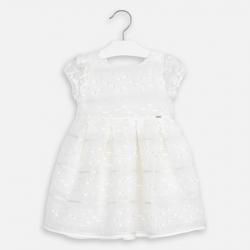 MAYORAL biele organza šaty MAYORAL 3919-011 Natural
