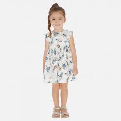 MAYORAL dievčenské vzorované šaty 3946-015 blue
