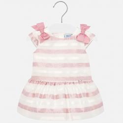 MAYORAL dievčenské pásikavé šaty 1908-037 Strawberry