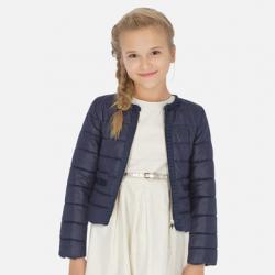 MAYORAL prešívaný dievčenský kabát 6463-060 navy
