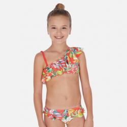 Dvojdielne dievčenské plavky MAYORAL6722-019 persimmon