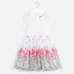 MAYORAL elegantné šaty dievčenské 6969-015 red