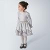 MAYORAL dievčenské šaty s opaskom 4963-020 steel