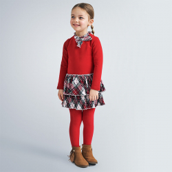 MAYORAL červené dievčenské šaty 4978-065 red