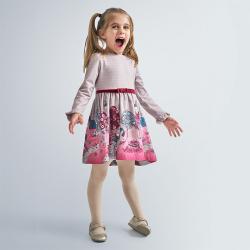 MAYORAL dievčenské šaty 4981-031 cherry