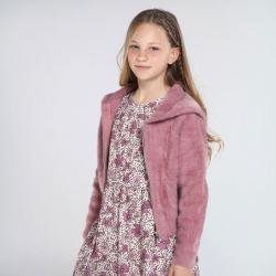 MAYORAL chlpatý prechodný kabátik 7338-017 pink