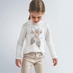 MAYORAL dievčenské tričko dlhorukávové 4059-027 champ