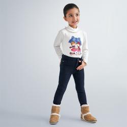 MAYORAL dievčenské tričko dlhorukávové 4059-028 cherry