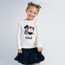 MAYORAL dievčenské tričko s bábikou 4062-078 navy