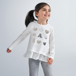 MAYORAL dievčenské tričko so srdiečkami 4063-011
