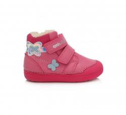 D.D.STEP BAREFOOT zimná obuv DD 066-155A Dark Pink