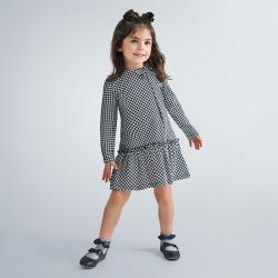 MAYORAL dievčenské šaty bielomodré 4990-011 navy