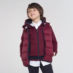 Chlapčenská  vesta s kapucňou MAYORAL 7322-048 bordo