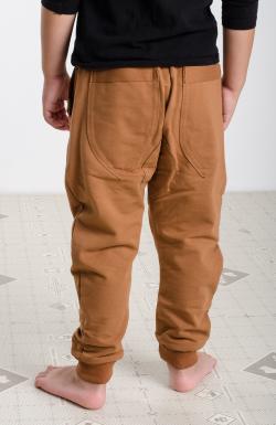 Hnedé bavlnené nohavice tepláky