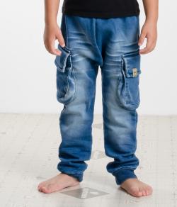 Bavlnené riflové nohavice tepláky