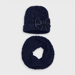 MAYORAL 2 dielny zimný set čiapka + nákrčník 10896-084