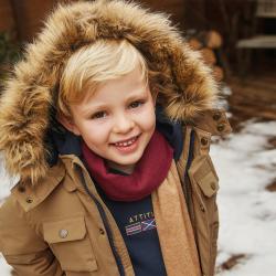 MAYORAL predĺžený zimný kabát 4472-010 mocha